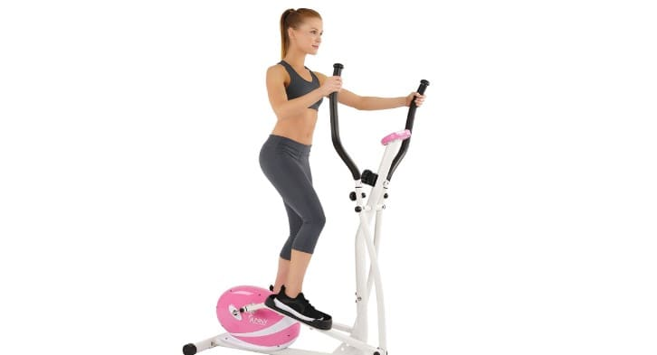 sunny health and fitness Pink Magnetic Elliptical