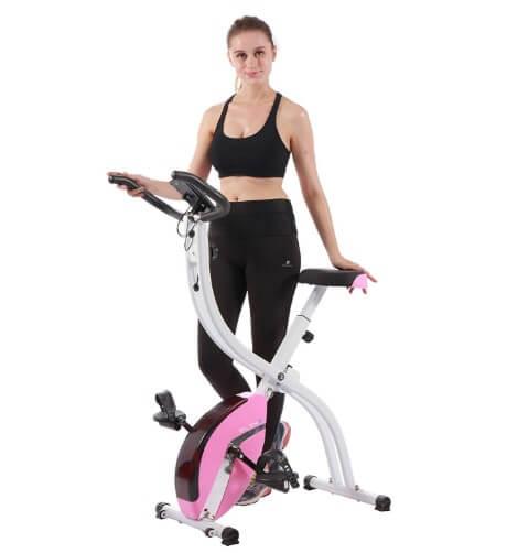 PLENY Foldable Upright Stationary Exercise Bike